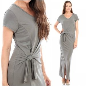 Modal Side Knot Maxi Dress